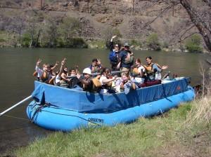 sweepboat on the Deschutes